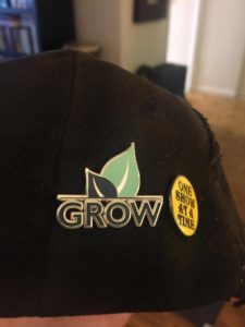 GROW Foundation pin